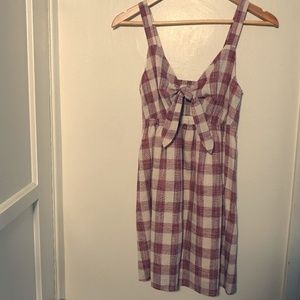 Dresses & Skirts - 100% Cotton Maroon and Ivory Gingham Dress (S)
